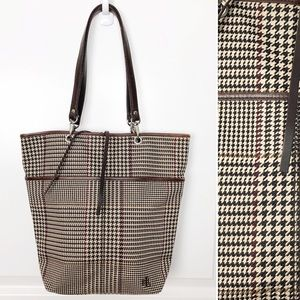 Lauren Ralph Lauren | Houndstooth Plaid Tote Bag